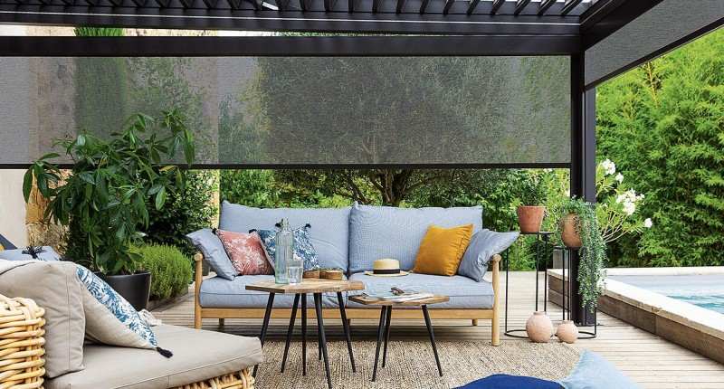 Soltis Veozip, create a space in the garden with the comfort of a living room