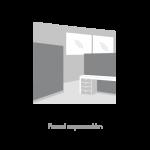 Revêtement de mur, panneau, séparation - fermetures