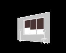 Raffstores in Vertikalanlagen innen